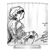 Coffee Lady Shower Curtain