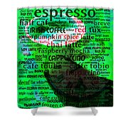 Coffee Lovers Diary 5d24472p108 Shower Curtain