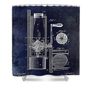 Coffee Mill Patent 1893 Blue Shower Curtain