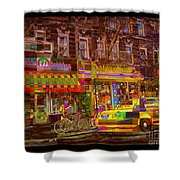 Coffee On The Way Home Shower Curtain