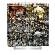 Coffee Pots At The Grand Bazaar In Istanbul Turkey Shower Curtain
