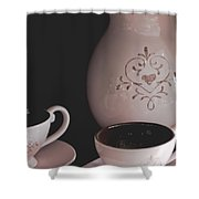 Coffee Service Shower Curtain