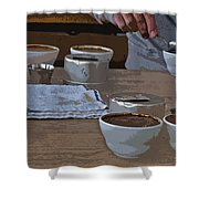 Coffee Tasting Shower Curtain