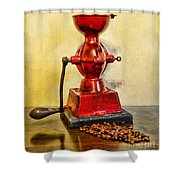 Coffee The Morning Grind Shower Curtain
