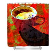 Coffee Time My Time 5d24472m12 Shower Curtain