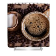 Coffee With A Smile Shower Curtain