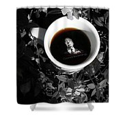 Coffee With Alfred Shower Curtain