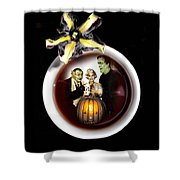 Coffee With The Munsters Shower Curtain