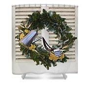 Coffee Wreath Shower Curtain