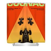 Cognac France F3 Grand Prix 1964 Shower Curtain