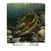 Coho Fishing Shower Curtain