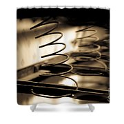 Coil Bed Springs Shower Curtain