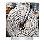 Coiled Rope Shower Curtain