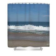 Coin Beach Md Ocean Wave Shower Curtain