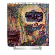 Coin Of The Realm Encaustic Shower Curtain