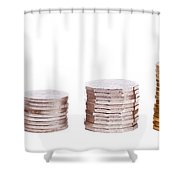 Coin Stack Shower Curtain