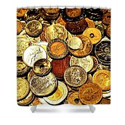 Coinage Shower Curtain