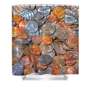 Coins Shower Curtain