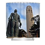 Coit Tower -2 Shower Curtain