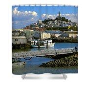 Coit Tower And Marina - San Francisco Shower Curtain