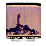 Coit Tower Poster Shower Curtain