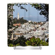 Coit Tower View Shower Curtain