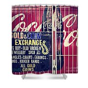 Coke And Gold Shower Curtain