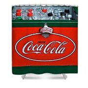 Coke Cooler Shower Curtain