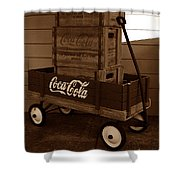 Coke Wagon Shower Curtain