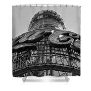 Coca Cola Building Shower Curtain
