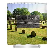 Col. Benjamin Church And Elisabeth Pabodie Gravesites In Little Compton Ri Shower Curtain