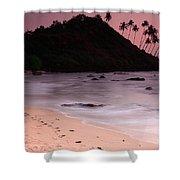 Cola Beach Sunset Shower Curtain