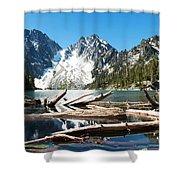 Colchuck Lake Panorama Shower Curtain
