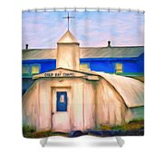 Cold Bay Chapel Shower Curtain