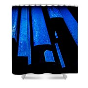 Cold Blue Steel Shower Curtain by Steven Milner
