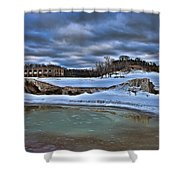 Cold Day At The Beach Shower Curtain