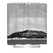 Cold Day In The Harbour  Shower Curtain