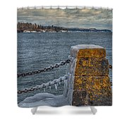 Cold Day On Superior Shower Curtain