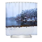 Cold Feet - A Winter Landscape Shower Curtain