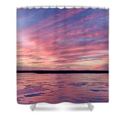 Cold Fire Shower Curtain
