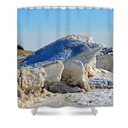 Cold Frog Shower Curtain