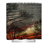 Cold Front Sunset Shower Curtain