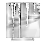 Cold Glistening  Icicles Shower Curtain