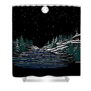 Cold Mountain Winter Shower Curtain