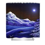Cold Night Shower Curtain
