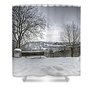 Cold Seat With A View Shower Curtain