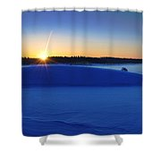 Cold Silence.. Shower Curtain