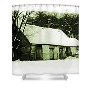 Countryside Winter Scene Shower Curtain