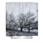 Cold Spell Shower Curtain