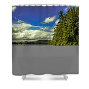 Cold Spring Day In Vermont Shower Curtain